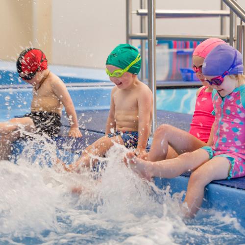 Preschool swimming lesson