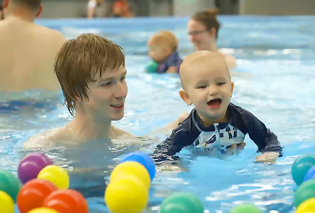 Toddler Swimming with Toys - Fulton Swim School