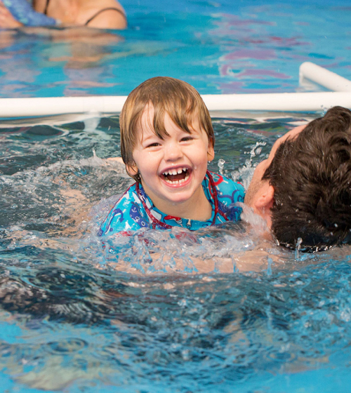 Swimming lesson for toddlers